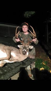 William Davis killed this big Person County buck while hunting with his dad. The buck scored 134 2/8-inches.