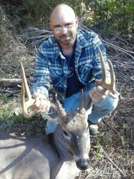 This 8-point buck won the October Bag-A-Buck contest for a Timberlake hunter.