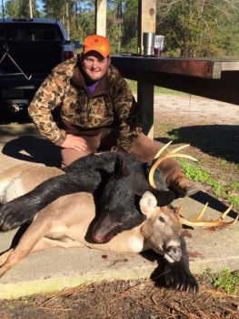 Hunter Henderson killed this buck just minutes after his dad shot the bear during a hunt in Jones County.
