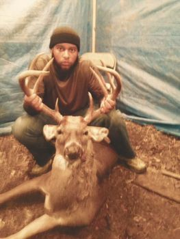 Sevin Carter hunted this deer a long time before finally bagging it on Nov 29 in Durham County.