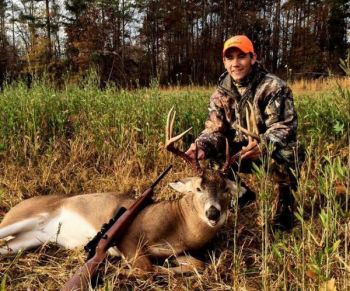 Skylar Martin killed this big buck, which his dad had previously shot, on Nov 28 in Guilford County.
