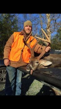 Justin Faircloth killed this brute on Thanksgiving morning in Alamance County. The buck was green-scored at 142 3/8-inches.