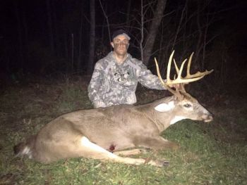 RJ Seiler took his second trophy of the season when he killed this 130-class Rockingham County brute on Dec 10.
