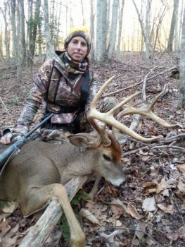 Ashley King killed this 120-class buck on Dec. 19 in Rutherford County while hunting with her boyfriend.