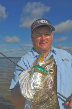 James Grimes� 6-pound speckled trout is a big one for anywhere on North Carolina�s coast, but the New River holds some much bigger.
