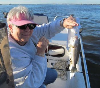 Tasty whiting are among the earliest fish to arrive around Cape Fear and the latest to leave, providing fishermen battling cabin fever with some great action.