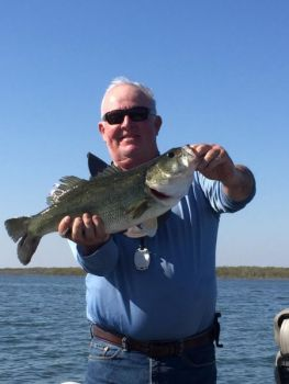 B.J. Gaither caught this nice Lake Waccamaw largemouth bass last spring as fish moved into the shallows to spawn.