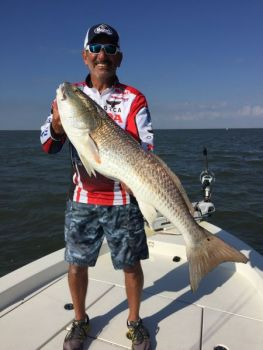 Paul Elias caught the biggest redfish of his life out of Venice using the new Monster Reel'N'Shad.