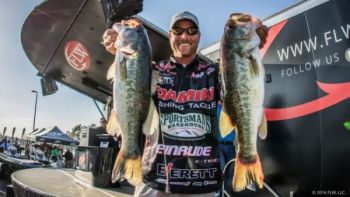 Bryan Thrift is well within striking distance of the leader after day 1 on the FLW's Lake Hartwell tournament.
