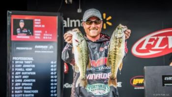 Bryan Thrift finshed fifth in the FLW tournament on Lake Hartwell with 59-8, taking home $19,000.