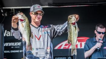 Anthony Gagliardi of Prosperity finished 14th in the Lake Hartwell FLW Tour event.