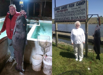 Donald and Lucille Pope of Clemmons went catfishing in South Carolina, caught personal bests, and won some cash in the Big Fish Big Bucks Fishing Derby.