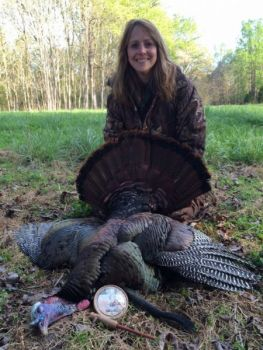 Rhonda Snyder killed this gobbler while hunting with her husband in Orange County.