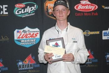 Noah Lowenbach won the $100 Jr. Angler award for his 15.25-inch sea trout.