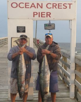 Jerry Faw and David Whitley are two of the multiple anglers who caught king mackerel off Ocean Crest Pier on May 10.
