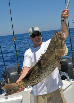 Jeff Deamer of Gastonia caught this 30-pound gag grouper in 135 feet of water, 33 miles offshore from Holden Beach.