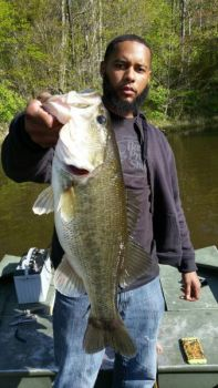 Durham County's Sevin Carter landed this lunker at Durham's Little River Lake.