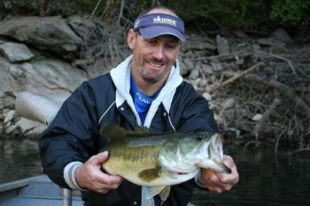 September marks the start of the largemouth bass migration out of deep water and into tributary creeks and rivers on Lake Jocassee.