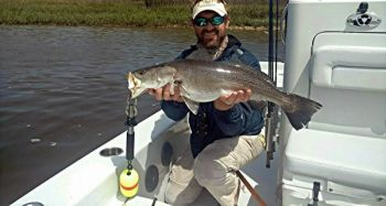 Guide Justin Carter, who caught this 10-pound trout in South Carolina�s Wando River earlier this year, said the river�s clean, clear nature is great for specks.