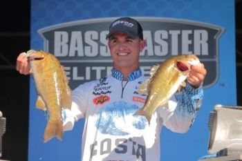 Casey Ashley leads the La Crosse Bassmaster Elite Series tournament after Day 1.
