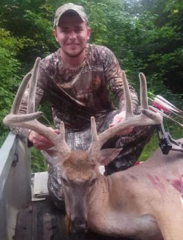 Jonathan Linens killed this huge Caswell County buck, but it was a stressful hunt for the Virginia sportsman.