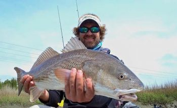 Capt. Justin Carter starts his fishing days with a longer fluorocarbon leader than most anglers do, and he said it saves him time throughout each trip.