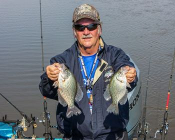 Eddie Moody of Roxboro finds all the fall crappie he needs in the Eno River, the largest of the three tributaries that feeds Falls of Neuse Reservoir.