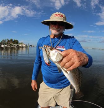 The D.O.A. Bait Buster is a soft plastic fishing lure that is effective for both freshwater and saltwater species.