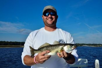 Look for state-line speckled trout on hard ledges along creek channels or ditches.