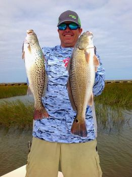 Plenty of speckled trout and redfish are caught through December in the Harkers Island/Cape Lookout area.