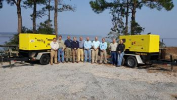 CCA South Carolina donated these two generators to the Waddell Mariculture Center in Bluffton. The equipment will provide uninterrupted power for the research and stocking ponds.