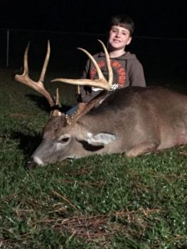 Jacob Pearce killed this 130-class buck in Pender County on Nov. 10 while hunting with his dad.