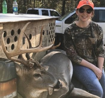 Dani High killed this 10-point buck while on a dog drive in Brunswick County on Nov. 19