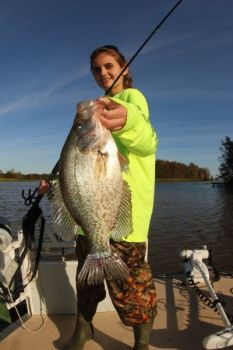 Crappie at Lake Wateree will hang around debris or other forms of cover close to the main-river channel on the lower end of the lake.