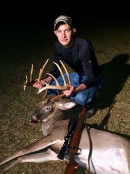 Jamin Floyd killed this big 14-point buck in Loris while home for Thanksgiving from Clemson University.