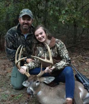 Mary Claissen Jones, 13-years-old, killed this trophy buck on a November hunt in Florence County.