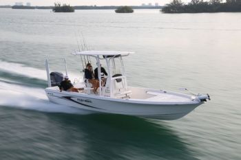 The Blue Wave 2400 Pure Bay has a tremendous amount of storage and great creature comforts for a bay boat.