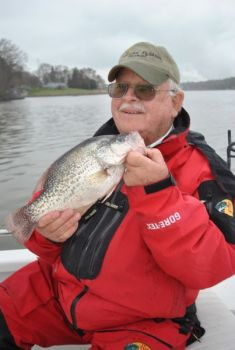 Lake Wylie has plenty of 1- to 2-pound crappie, and they attract plenty of fishermen, even during the winter.