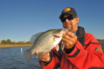 Leave the remote on the couch and head for North Carolina's Jordan Lake for great winter crappie fishing.