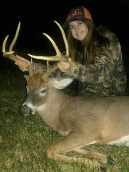 Kinley Ferguson of Liberty, N.C. won the November Bag-A-Buck Contest with this 8-point, 120-inch buck.