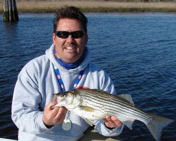 Guide Jot Owens targets stripers in the Cape Fear River around Wilmington, N.C., with a variety of hard and soft baits.