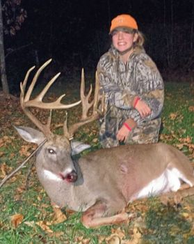 Casey Haizlip wanted her first deer to be a quality one, and she got it right, downing this 16-point trophy on Nov. 21.