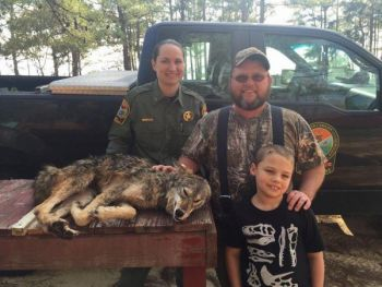 James Gillis became the first hunter to win a lifetime hunting license through the SCDNR's Coyote Harvest Incentive Program.
