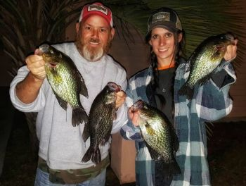 Todd Vick said winter is the time to catch crappie on the Waccamaw River.