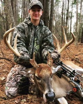 Nathan Collier worked hard for this buck, beginning with putting out mineral sites long before deer season started.