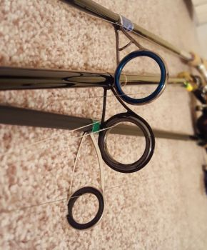 All 3 of these spinning rods are 7-feet long, but the ALX Rod (bottom) has much smaller line guides, beginning with the one closest to the reel.