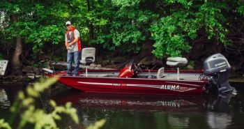 The Alumacraft Prowler 16.5 is a mid-sized bass package that can take rough water and provide a great fishing platform.