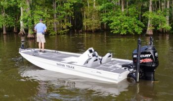 Gator Trax Strike Series boats are strong, big-water hulls that can carry a big outboard engine.