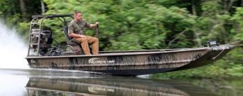 Pro-Drive's X Series with stick-steering provides a great platform for fishermen and hunters who need to get to and through the shallow stuff.