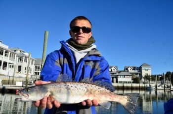 For ice pop speckled trout in estuaries on either side of the North Carolna/South Carolina border, the key is looking for warm waters.